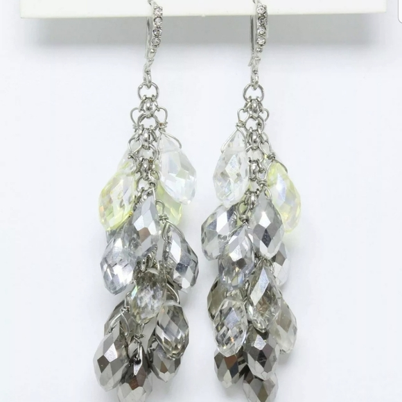 ANTHROPOLOGIE FACETED GLASS DROP EARRINGS